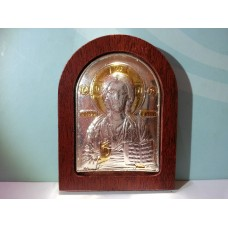 Посребрена икона на Исус Христос – малък размер