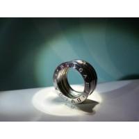 Сребърен пръстен пружина, модел на BVLGARI